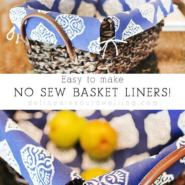 1 How to make No sew basket liner