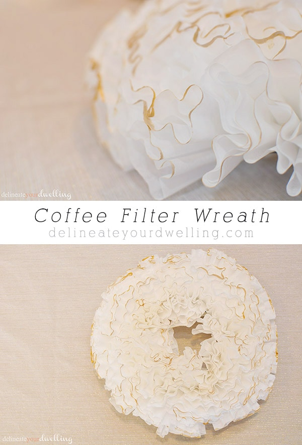 Coffee Filter Wreath, Delineateyourdwelling.com