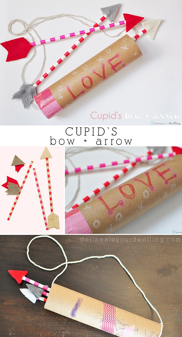 Cupid's Bow and Arrow- Valentine's Day, Delineateyourdwelling.com