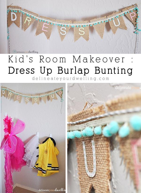 Dress Up Burlap Banner, Delineateyourdwelling.com