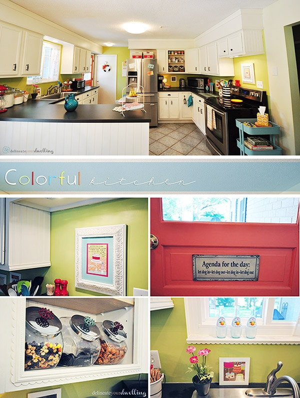 Colorful Kitchen, Delineateyourdwelling.com