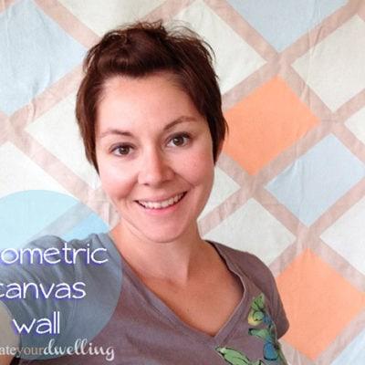 geometric canvas wall