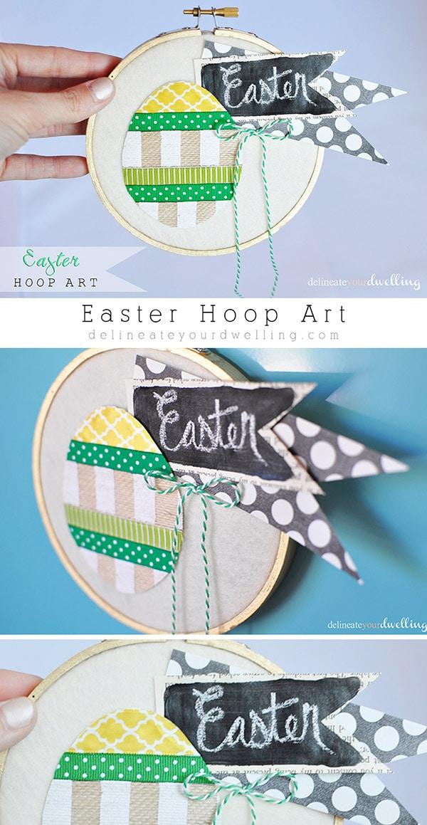 Easter Hoop Art, Delineateyourdwelling.com