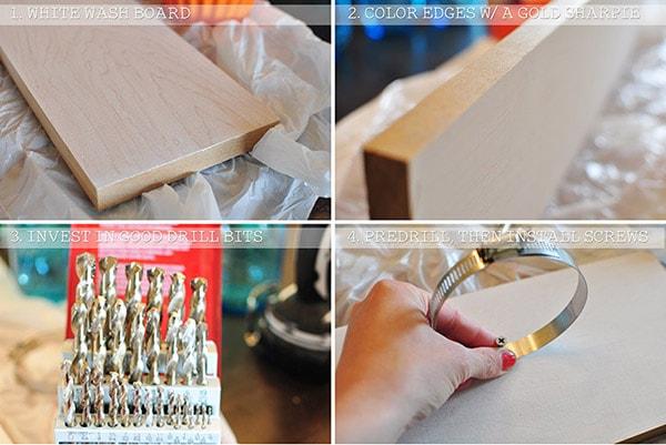 Mason Jar Wall hanging step 1