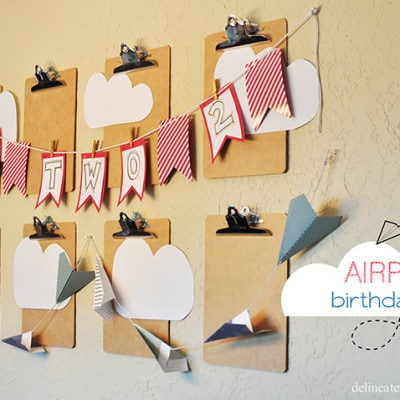 Airplane Themed Birthday Party