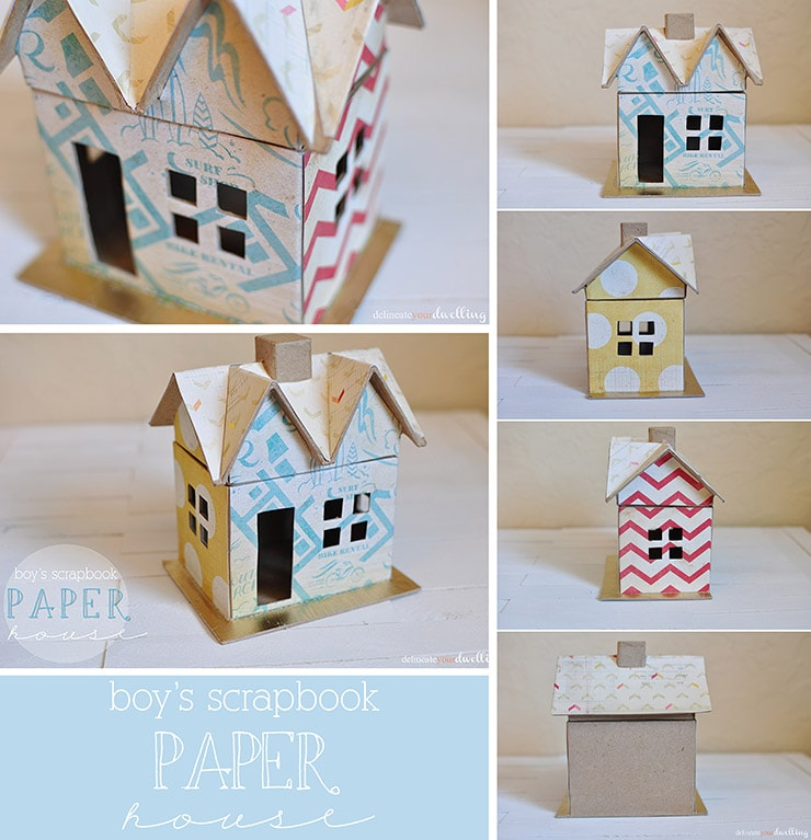 Boys Scrapbook Paper House