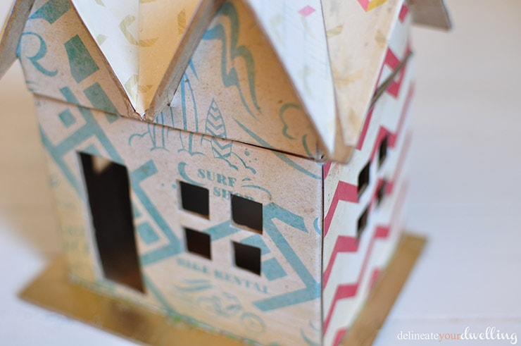 Boy's Scrapbook Paper House, Delineate Your Dwelling #scrapbook paper #doll house