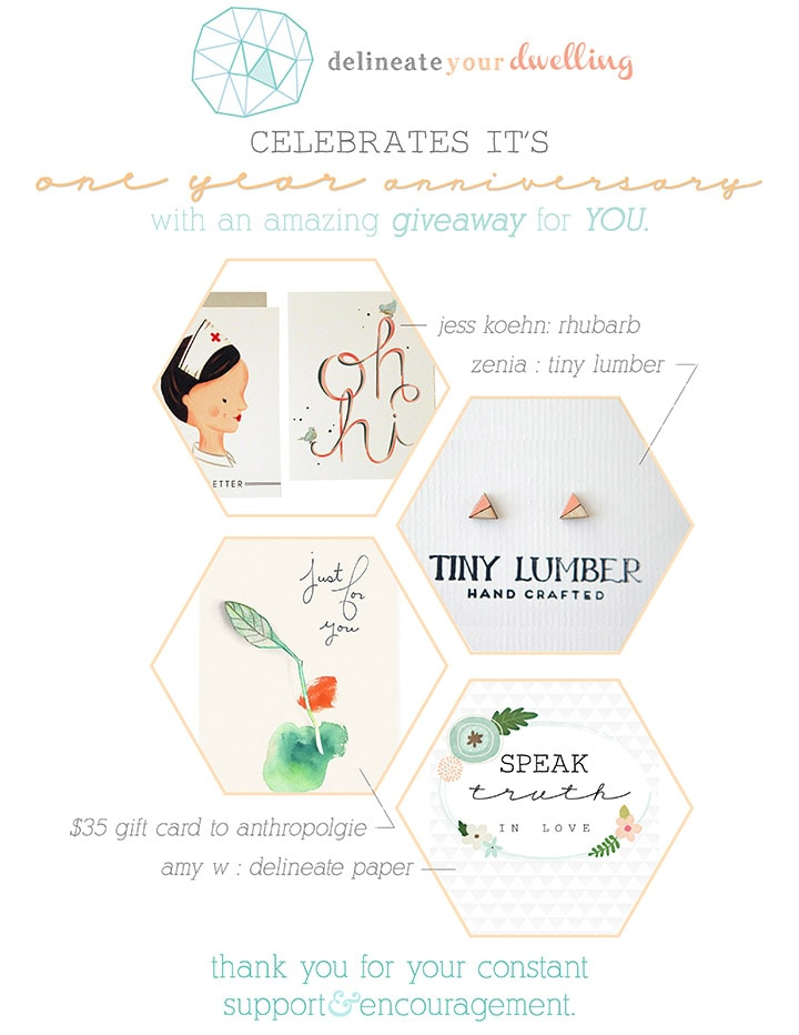 One Year Bloggiversary GIVEAWAY!, delineate your dwelling