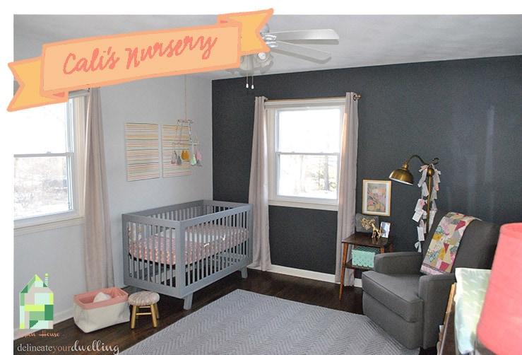 Baby Girl's Nursery, Delineate Your Dwelling #nursery #girldecor #DIY