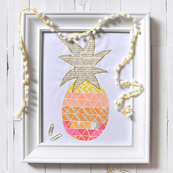 1-DIY-Washi-Tape-Pineapple-Print