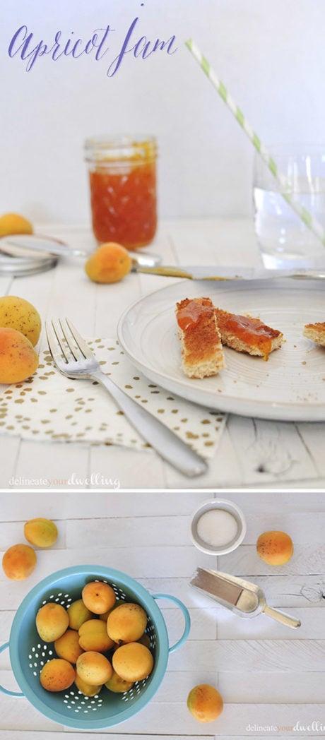 Apricot Jam recipe, Delineateyourdwelling.com