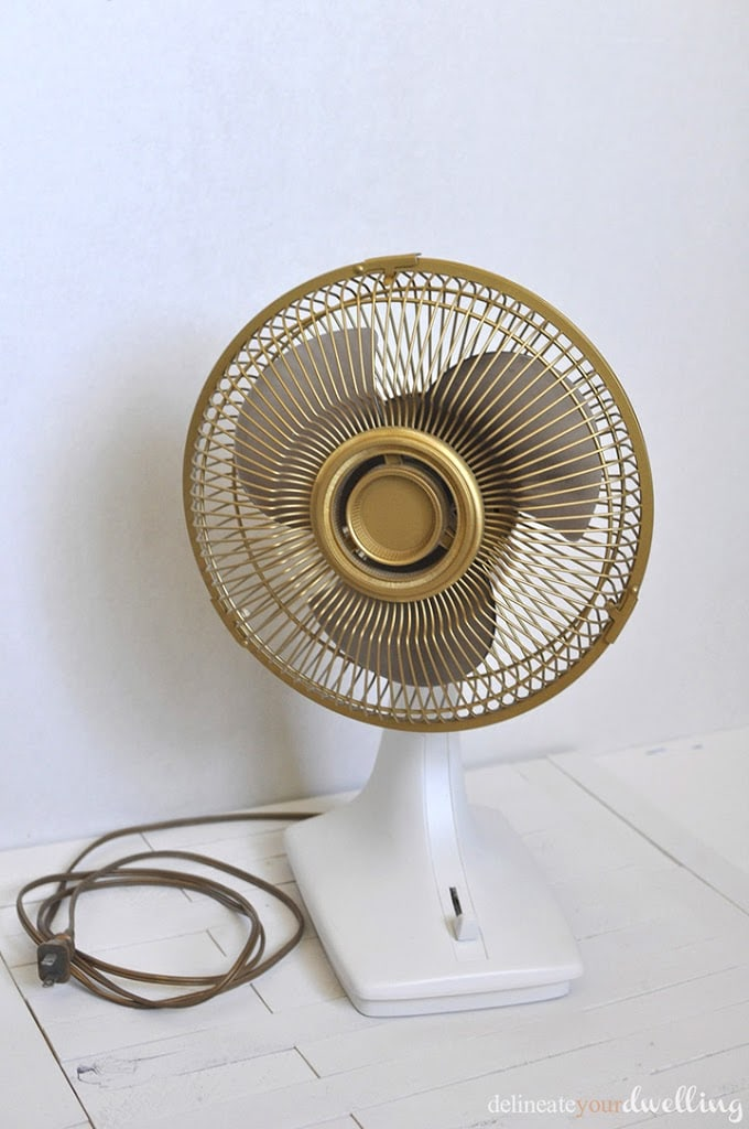 Updated Old Fan, Delineate Your Dwelling #gold #fan #update
