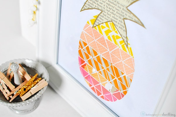 Washi Tape Pineapple print 5