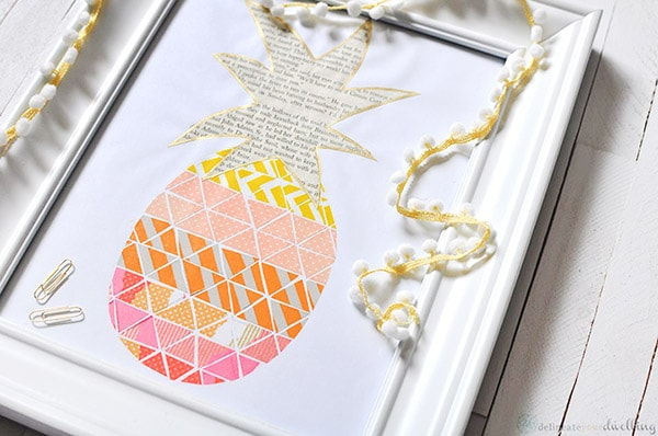 gorgeous DIY Washi Tape Pineapple