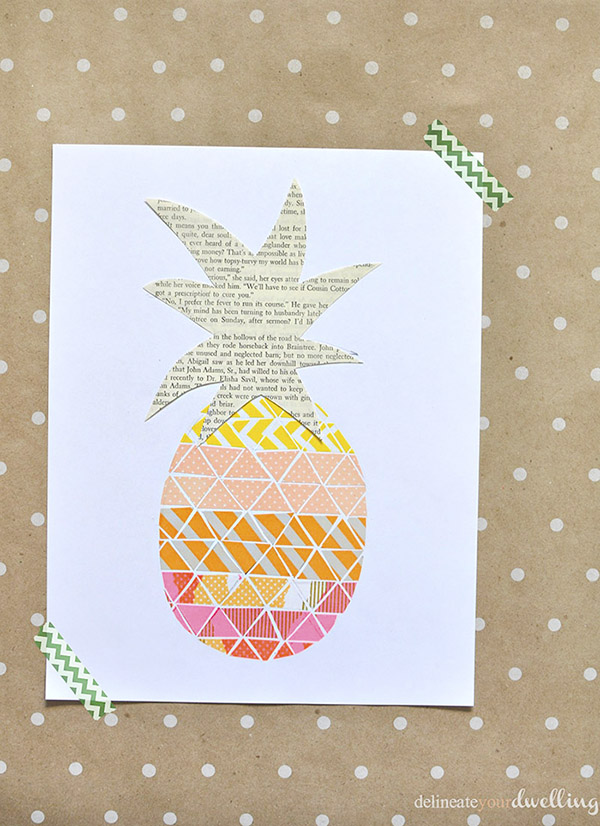 Washi Tape Pineapple print step 4