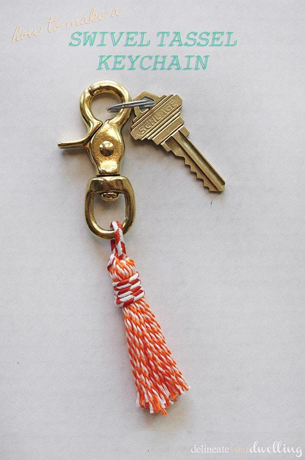 Swivel Tassel Keychain, Delineateyourdwelling.com