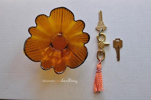 Swivel Tassel Keychain, Delineate Your Dwelling #tassel #orange #twine