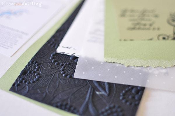 gorgeous DIY Wedding Invites