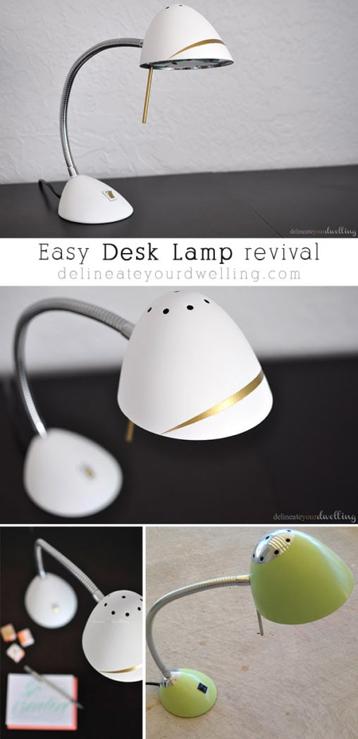 See how to completely transform your outdated lamps. It is a Desk Lamp revival, so impressive you'll want to update all of your old and worn out lamps! Delineate your dwelling #updatedlamp