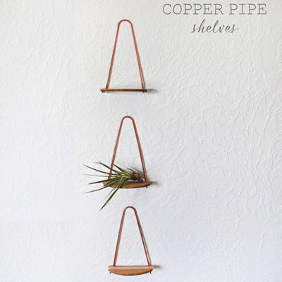 1 Copper pipe shelf