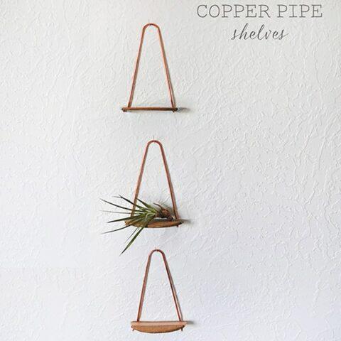 1 Copper pipe shelf