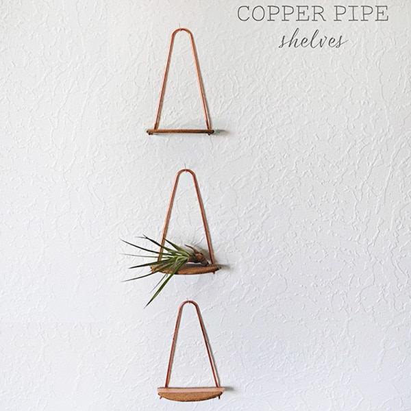 Mini Copper Pipe Shelves