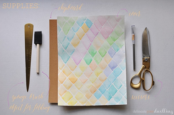 Watercolor notebook supplies