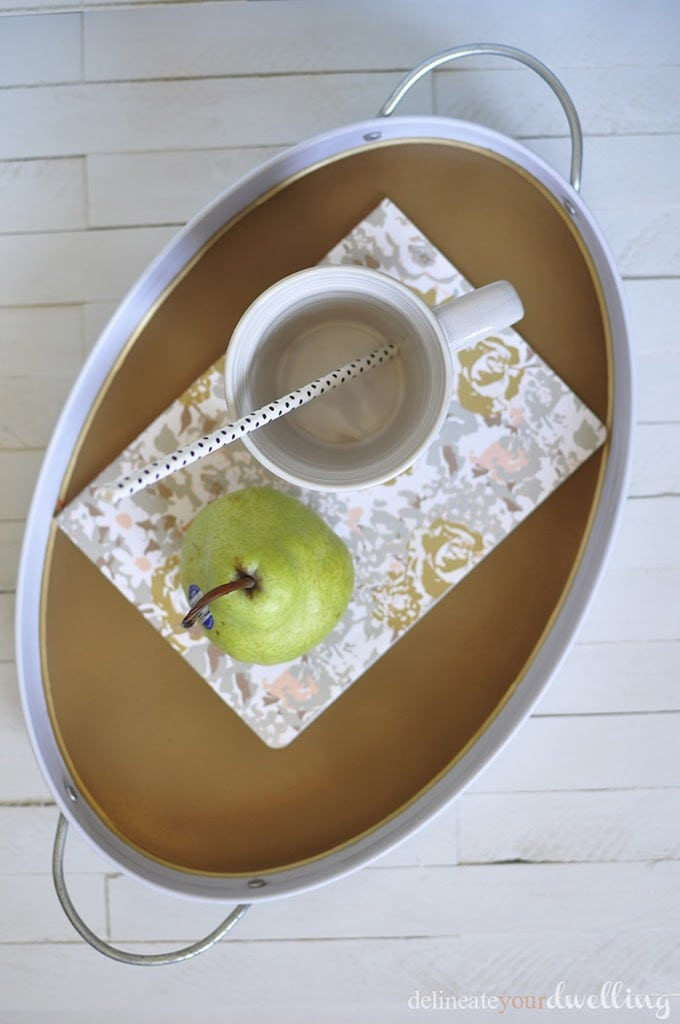 Bronze and Gold Outdoor Tray, Delineate Your Dwelling #summer