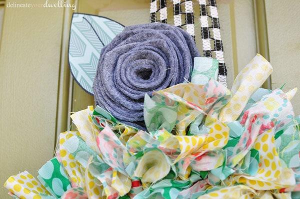 Summer Fabric Wreath