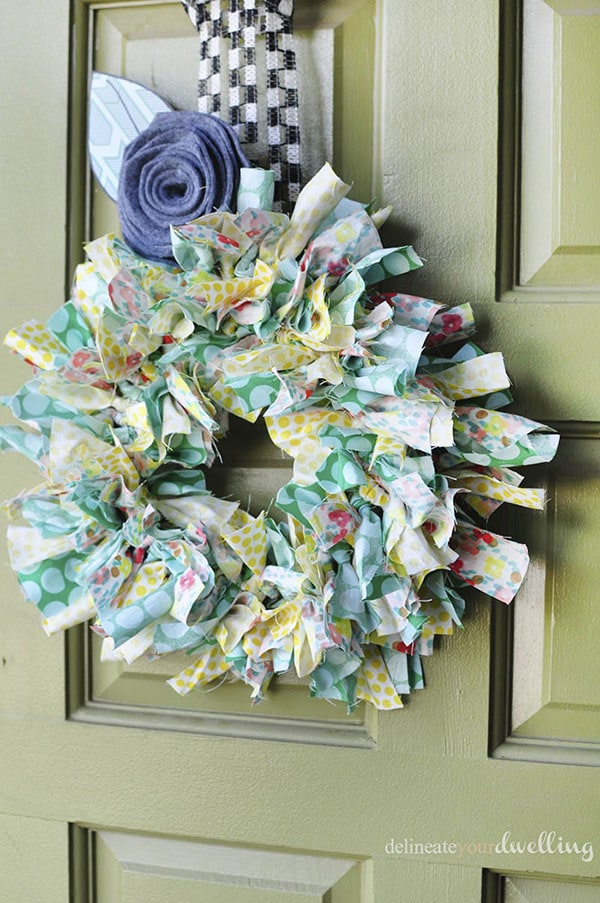 Create a simple Summer Fabric Wreath in no time at all! Delineate Your Dwelling
