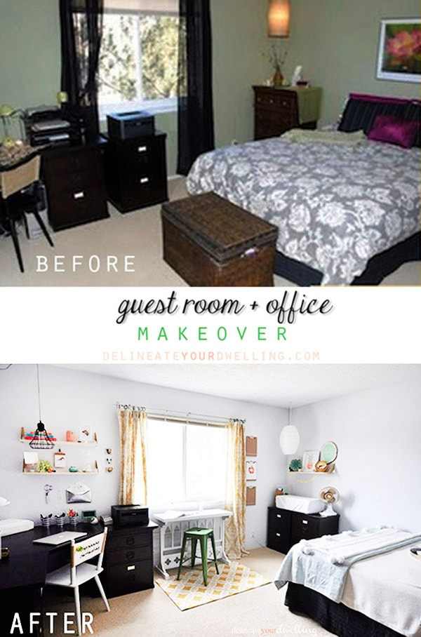 Guest Office makeover REVEAL a-b