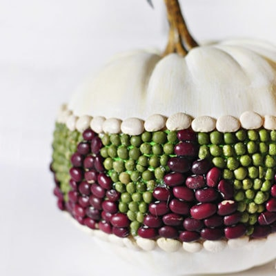 See how to create this easy and fun DIY Bean Pumpkin for the Fall Season!