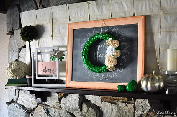 Fall Home Fireplace, Delineate Your Dwelling #emeraldgreen #gold #white