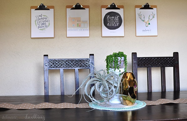 Fall Home Table Setting, Delineate Your Dwelling #emeraldgreen #gold #white #plants