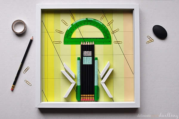Office Supply Artwork teacher gift, Delineate Your Dwelling