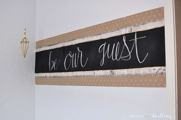Easy to make DIY Chalkboard Head board! Delineate Your Dwelling