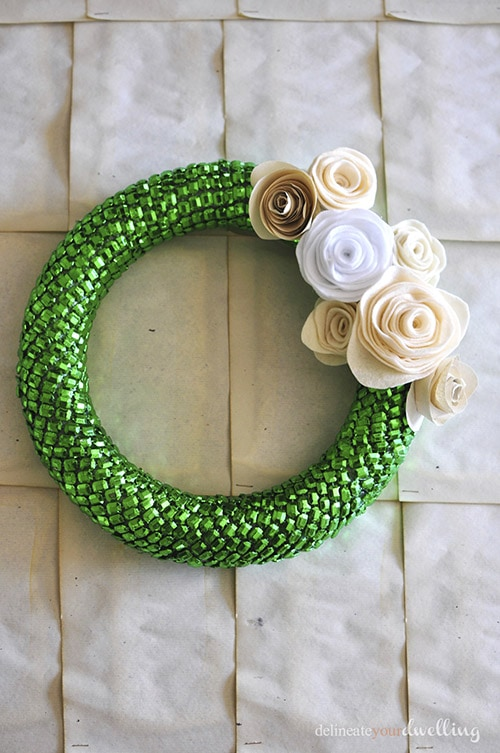 Green Beaded Wreath, Delineate Your Dwelling