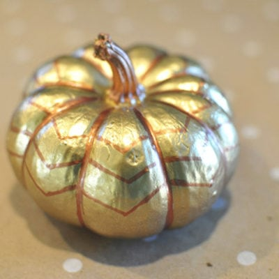 1 Bronze and Gold Pumpkin