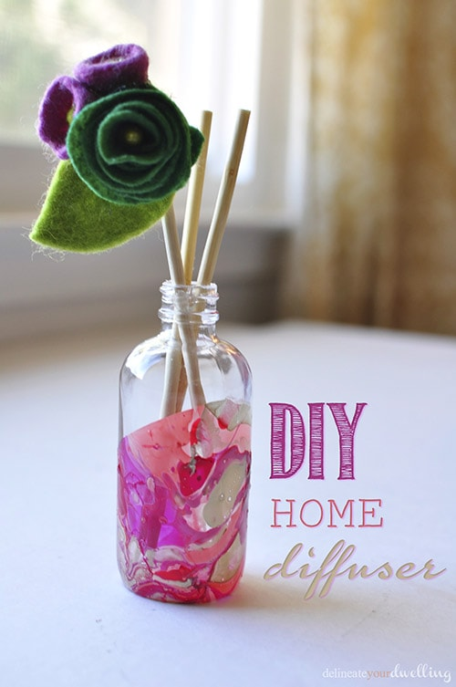 DIY Marble Room Diffuser, Delineate Your Dwelling #nailpolish