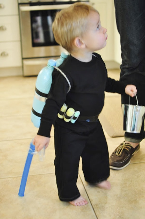 DIY Homemade Scuba Diver Costume