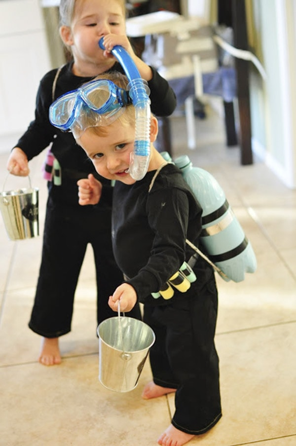 My son loves scuba divers and I bought this costume for him off eBay for a lot less than listed here. As the other reviewer noted, it is VERY cheaply made and the flippers, mask, and other plastic parts immediately cracked and broke.