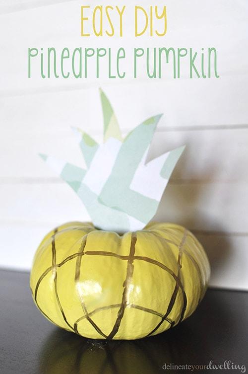 Easy DIY Pineapple Pumpkin