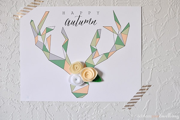 Geometric Deer Antler Printable, Delineate Your Dwelling #free #falldecor