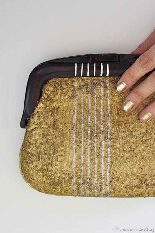 Gold Fabric Clutch, Delineate Your Dwelling