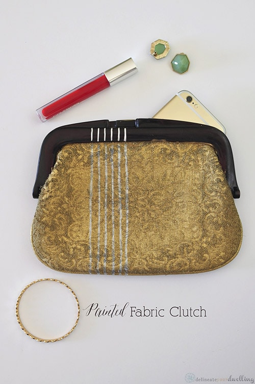 Painted Fabric Clutch, Delineate Your Dwelling
