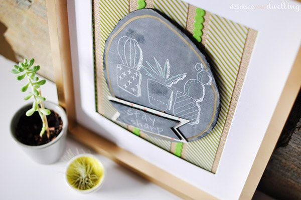 Easy to create Stay Sharp succulent artwork! Delineateyourdwelling.com
