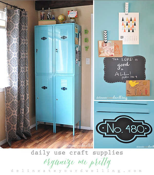 Daily Use Craft Supplies Organize Me Pretty Hour Tour, Delineate Your Dwelling #OrganizeMePretty