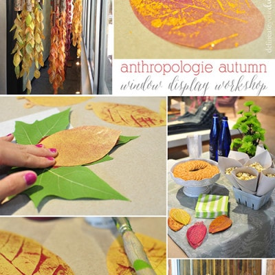 Leaf Press fall anthropologie window