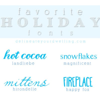 1 Favorite Holiday fonts