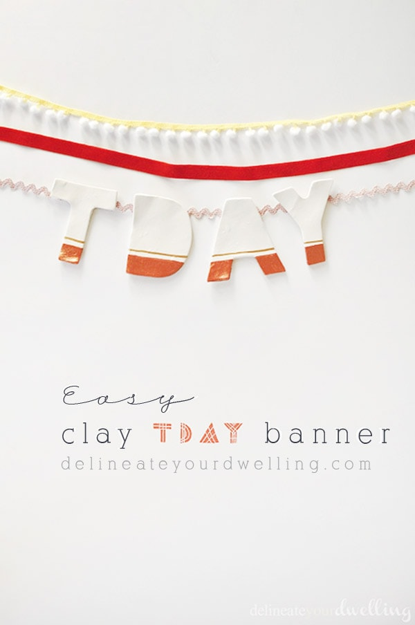 DIY Air Dry Clay TDAY banner, perfect for Thanksgiving decor - Delineate Your Dwelling